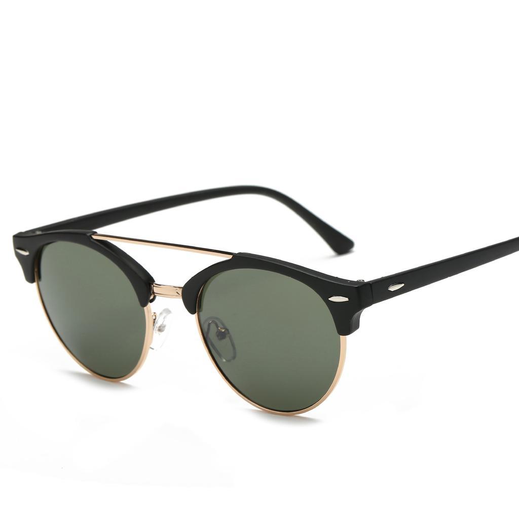 6aaf7bcb4c Mujer gafas de sol redondas marca gafas de sol diseño hombres UV400 ...