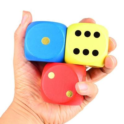 5cm Large Wooden Dice 6 Sides Game Dice Toy For Family Table Game Party Camping