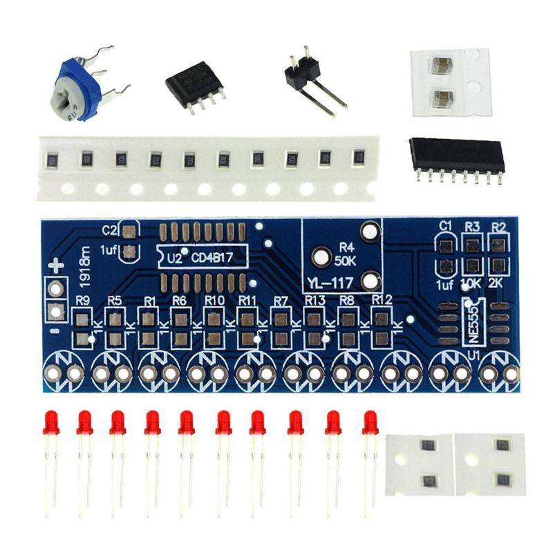 Electronic Components & Supplies Ne555 Cd4017 Running Led Flow Light Electronic Production Suite Board Diy Kit Module Capacitor Control Oscillator Clock Siganal Integrated Circuits
