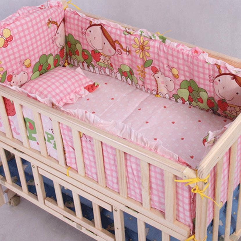 100 58 58cm//110 60cm 5pcs//Set Promotion Cotton Baby Children Bedding Set Comfortable Crib Bumper Baby Organizer Cot Kit Yellow 100