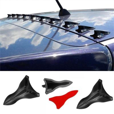 Black Gen Shark Fin Diffuser Vortex Generator for Mazda Subaru Roof Spoiler Bumper 10 Pcs