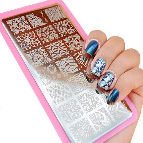 Волновые текстуры Шаблоны для дизайна ногтей Штамп Шаблон изображения Пластина Трафарет для ногтей Инструменты для рукоделия – купить по низким ценам в интернет-магазине Joom