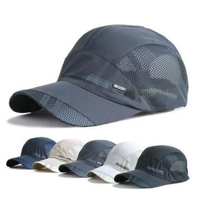 0864b30bc628d Men s Summer Cap Outdoor Visor Sunscreen Sun Hat Baseball Caps Quick-drying  Breathable Mesh Sports