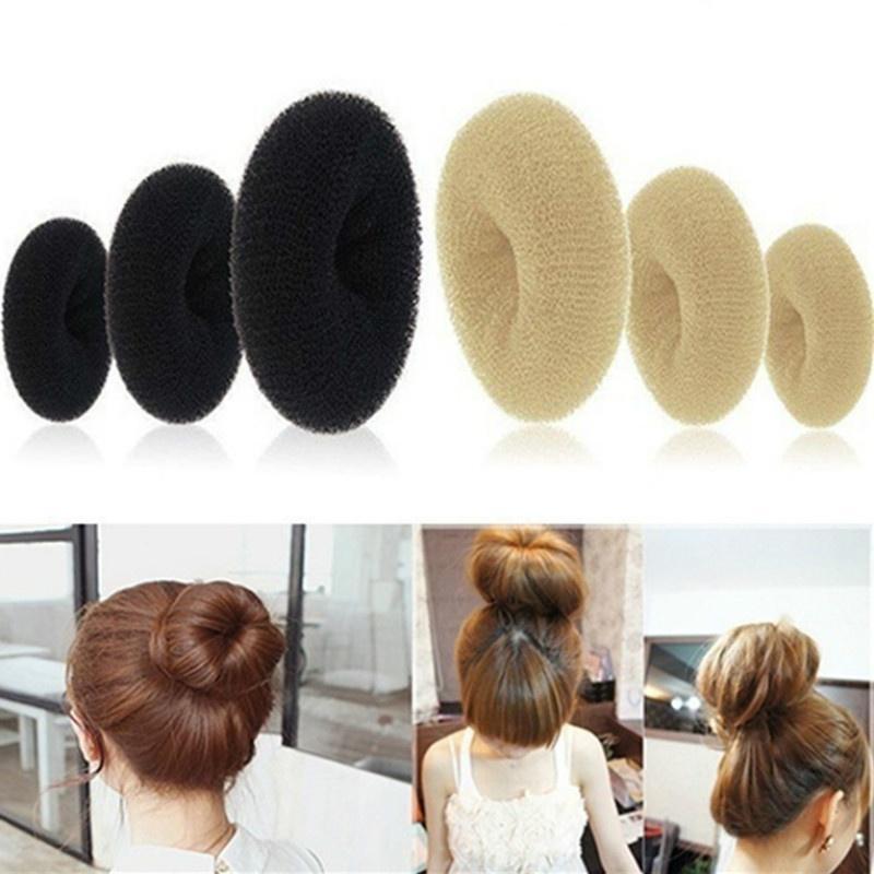 1pc Magic Blonde Donut Women Hair Ring Bun Former Shaper Hair Styler Maker Tools