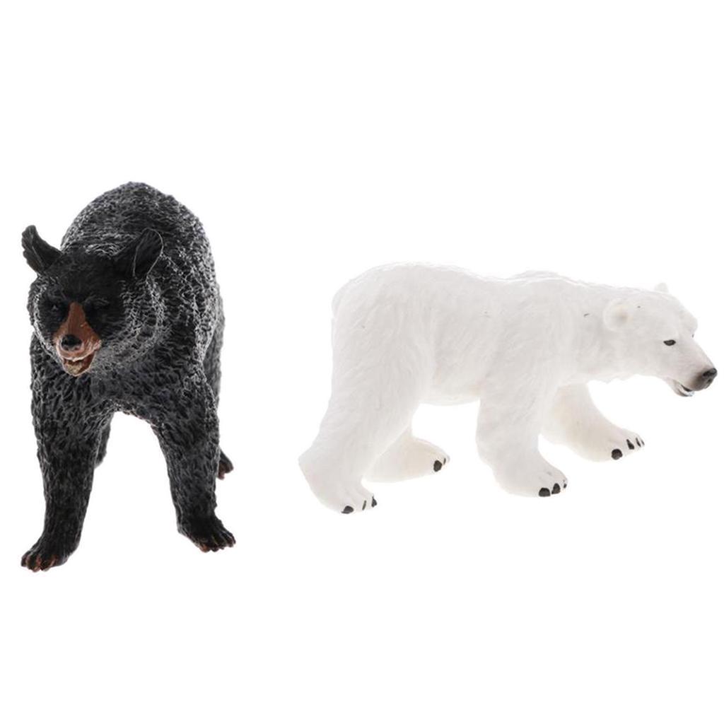 Ours Polaire Réaliste Animal Sauvage Modèle Figurine Figurine Enfants