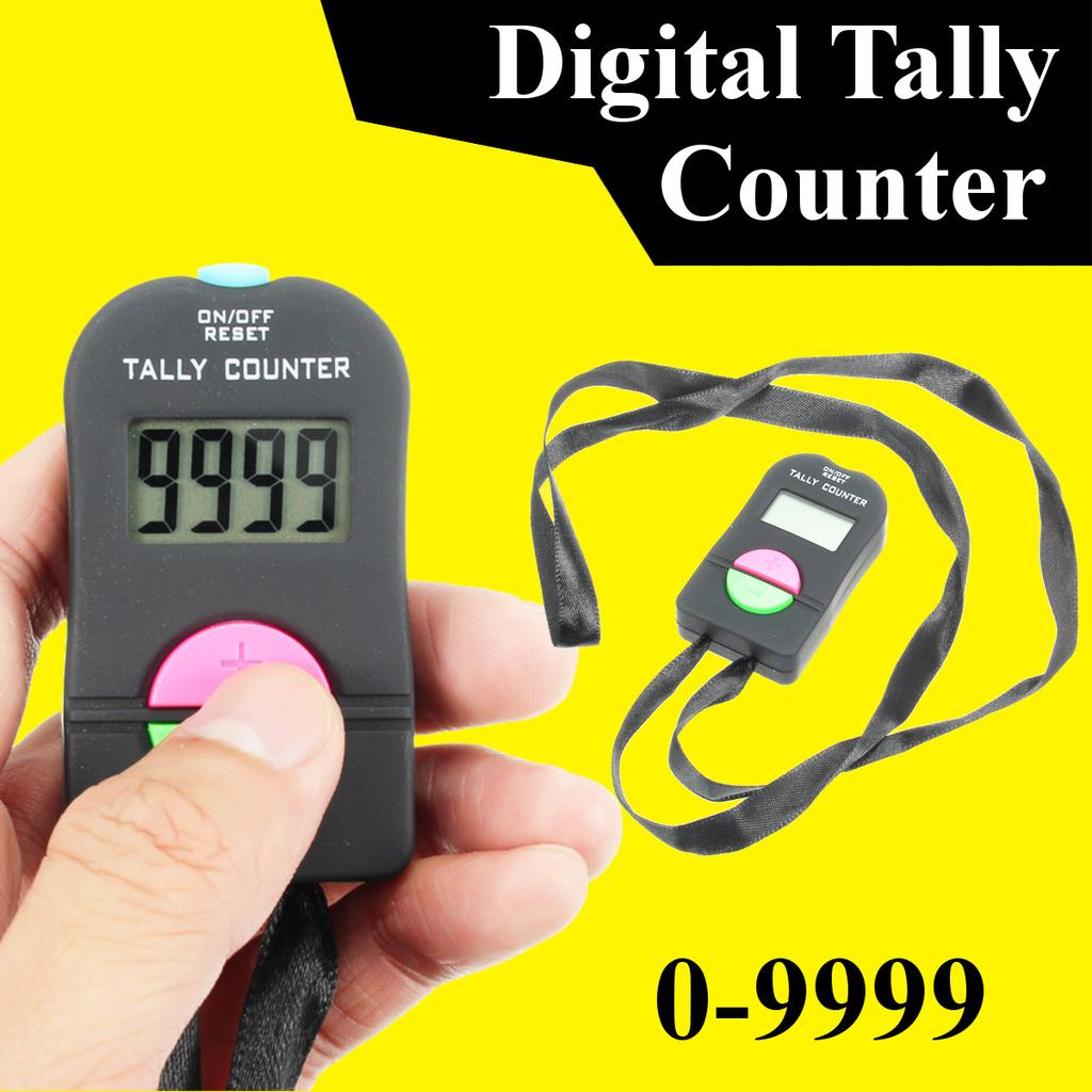 Digital Tally Counter Black And Yellow Up /& Reset Buttons
