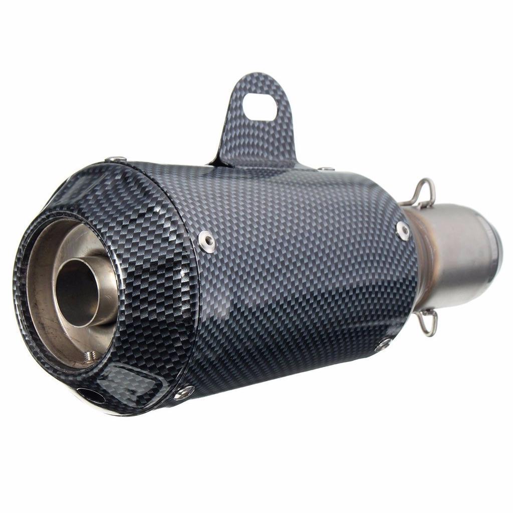 Silenciadores MagiDeal Universal Tubería de Silenciador de Fibra de Carbono Modificado 2-boca de Recambio para Motocicleta Motos, accesorios y piezas