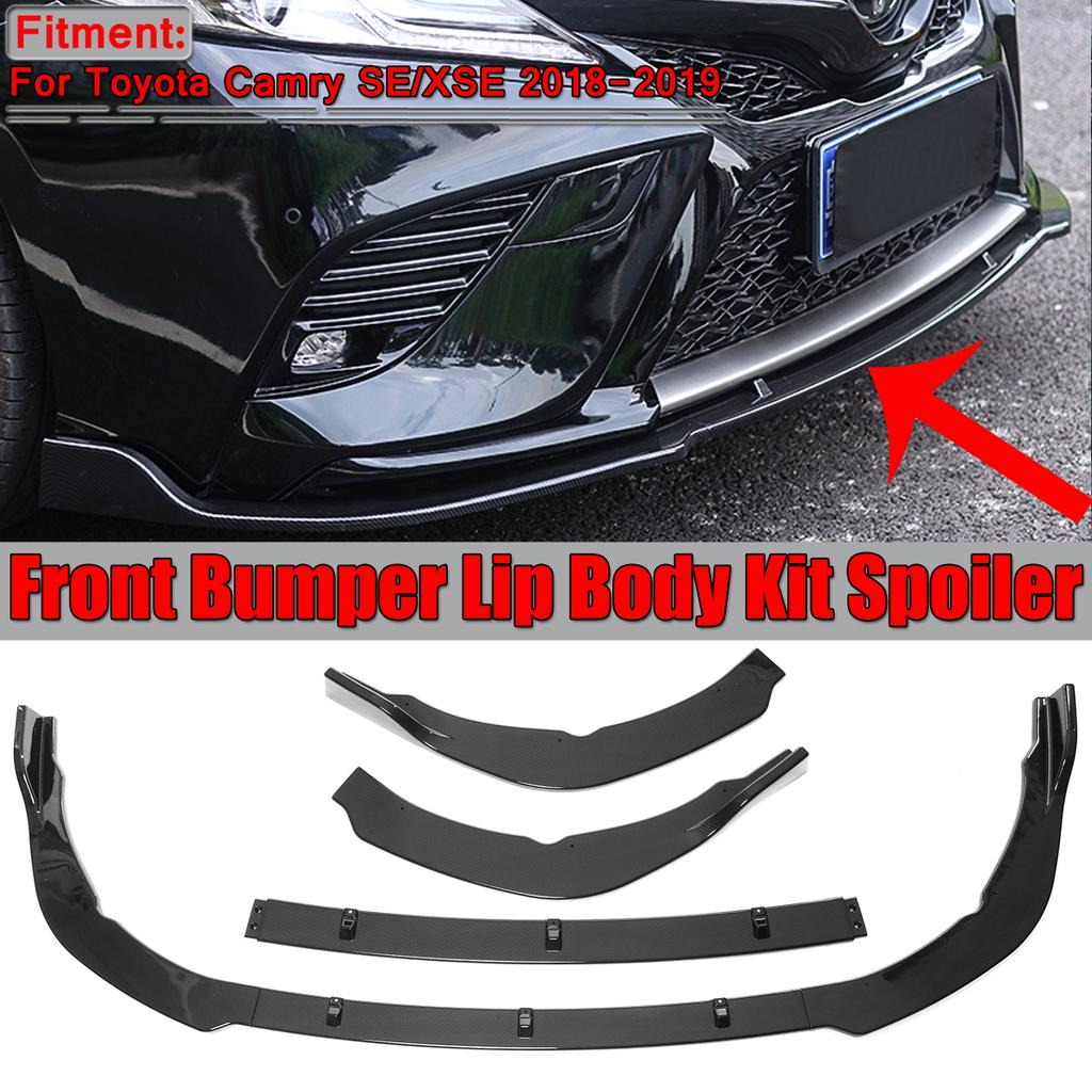 2PCS Car Front Bumper Lip Protector Cover Trim Accessories For All Vehicle Model