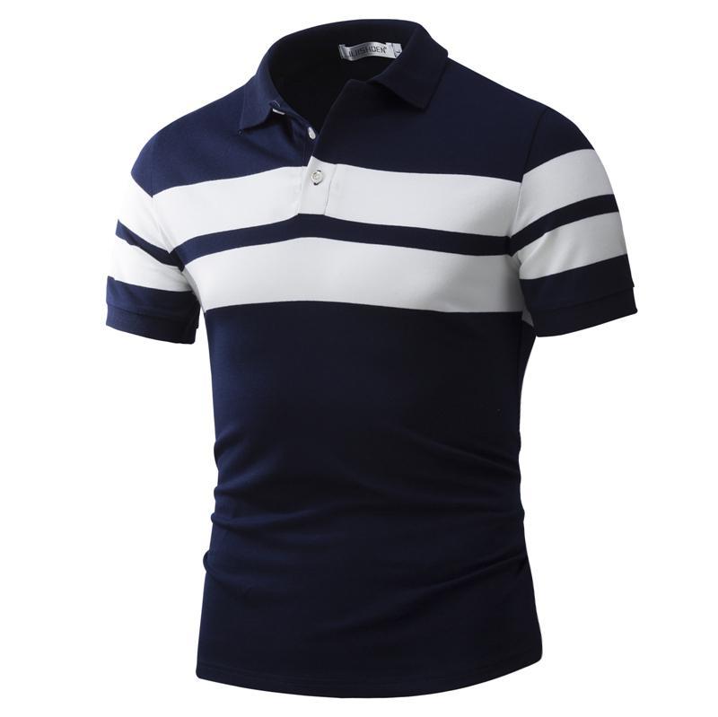 Camisa de POLO de manga corta camiseta de algodón de verano Varonil ... c01a2d724550a