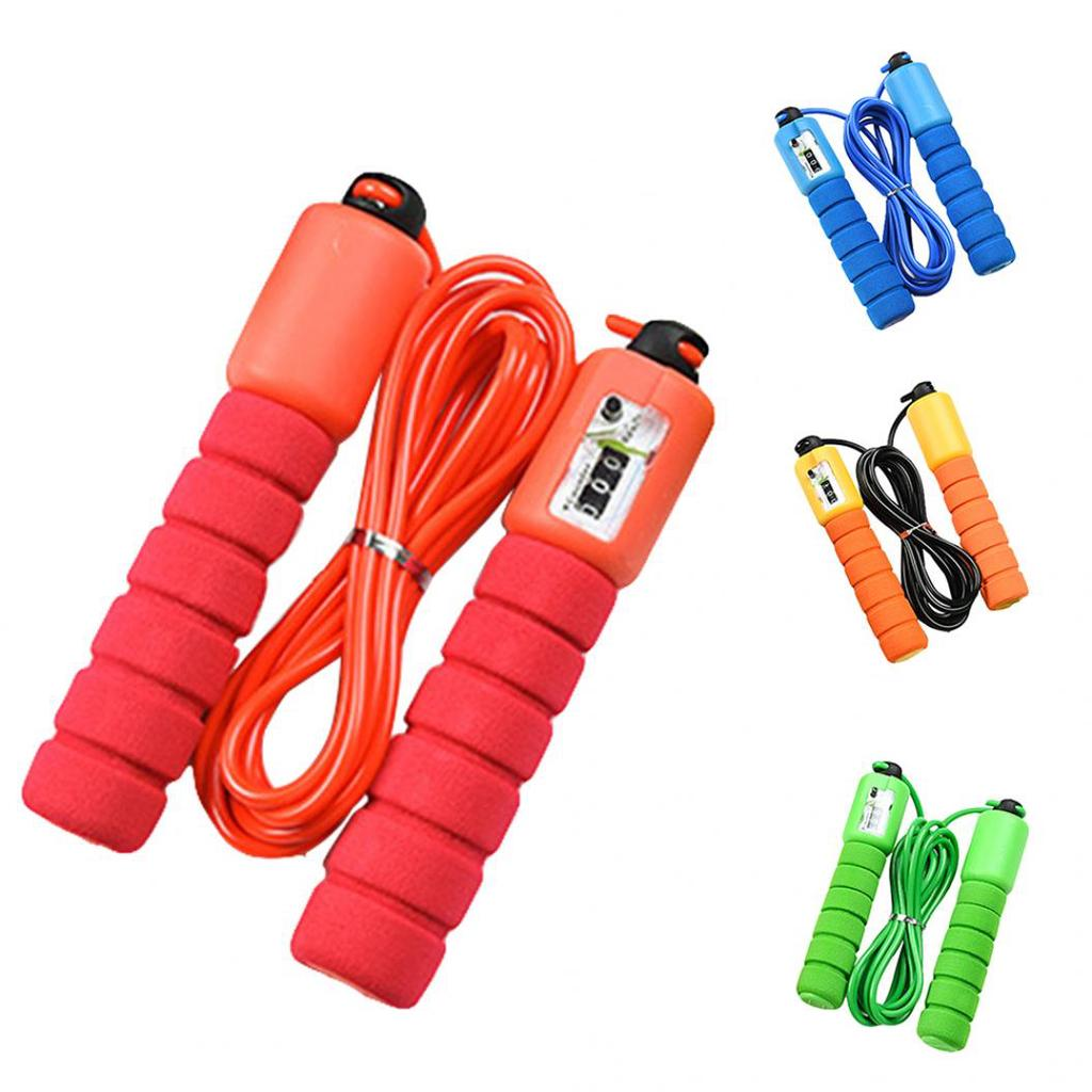 Electronic Adult Kids Skipping Jump Rope Counter Fitness Gym Training Tool NEW