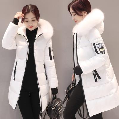52633cdf56e Зимняя мода пальто хлопка мягкий середине долго Slim-fit с длинным рукавом  с капюшоном вниз
