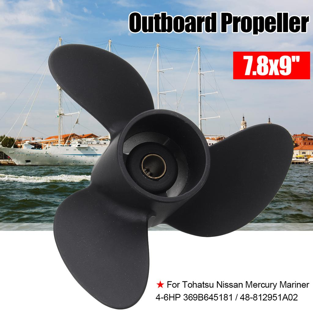 7,8 x 8 Aluminium Propeller für Tohatsu Mercury Außenborder 4-6 PS  ✔◆✔ CN*
