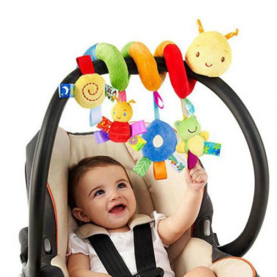 Симпатичные деятельности спираль шпаргалки коляска автокресло путешествия Подвесные игрушки Детские погремушки игрушка фото