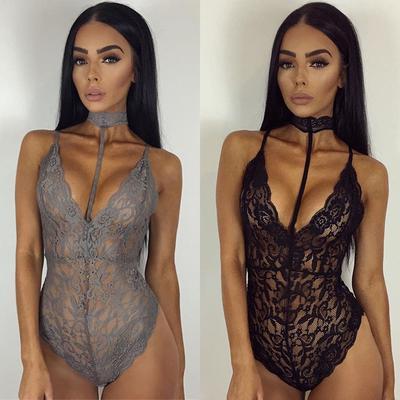 Women Lace Jumpsuits Strap Playsuits Underwear Nightwear Sleepwear Bodysuit 43948f0e9