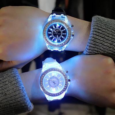 Outdoor Sports Digital Woman Wirstwatch Clock Fashion LED Luminous Watch for Women