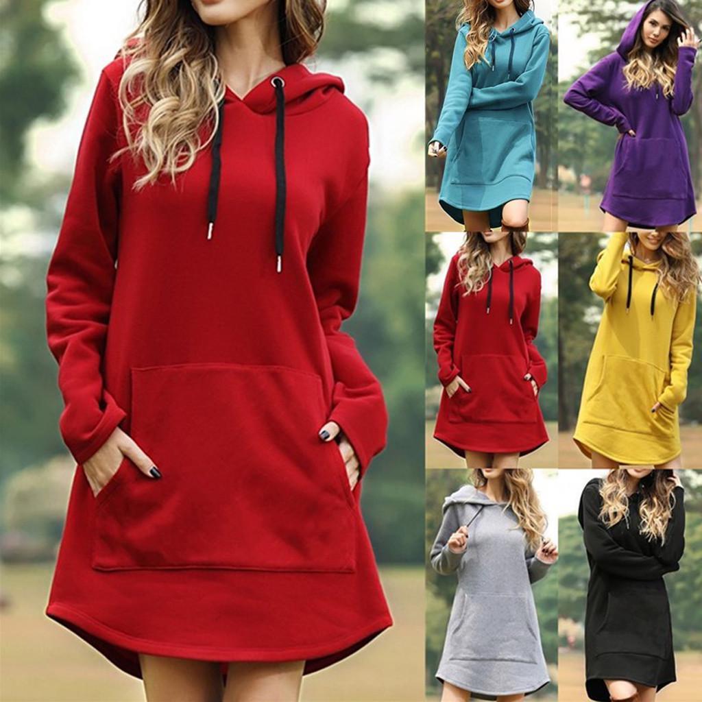 Drawstring Pocket Womens Hoodie Sale Womens Dress Sale,Red