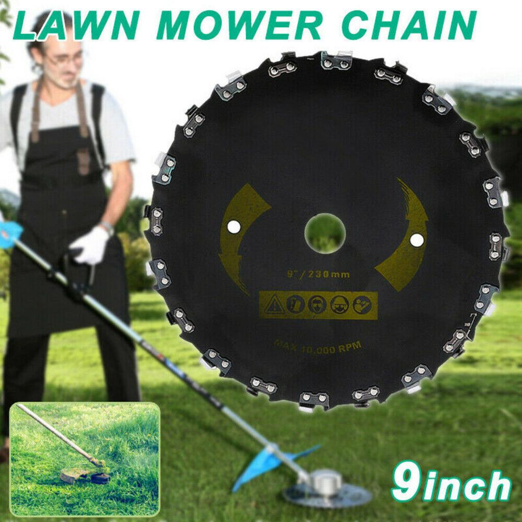 """Chain Saw Tooth Brush-Cutter Grass Blade Heavy Duty 9/"""" for Gas//Electric Trimmer"""