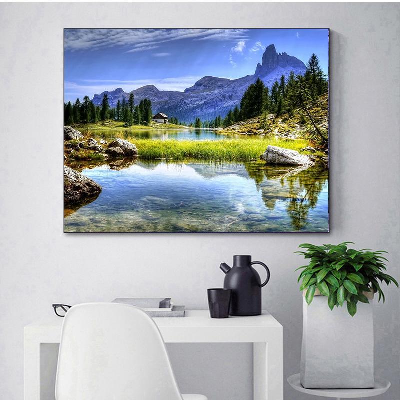 Lake Scene 30*40CM 5D Diamond Painting DIY Full Drill Rhinestones