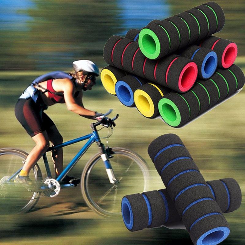 2Pcs//Pair Bicycle Cycling Skidproof Handle Bar Sponge Cover Soft Foam Matte Hand