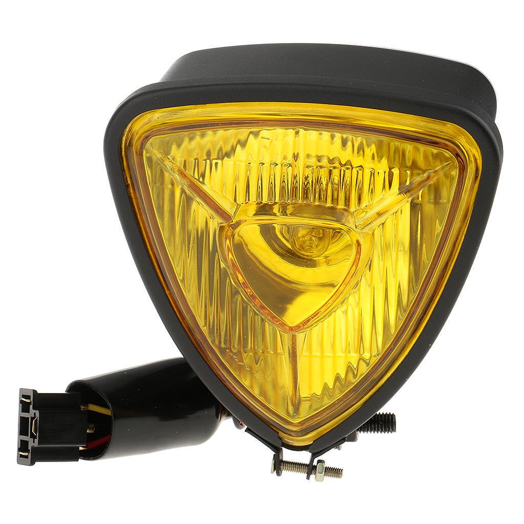 Bernstein Dreieck Schwarz Motorrad Scheinwerfer Lampe Cafe Racer Chopper Bobber