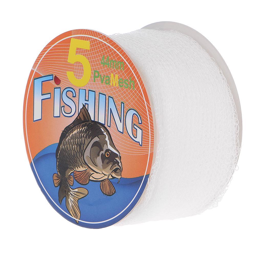 5M PVA 25mm Mesh Refill Carp Fishing Stocking Boilie Rig Bait Wrap Bags HGyu