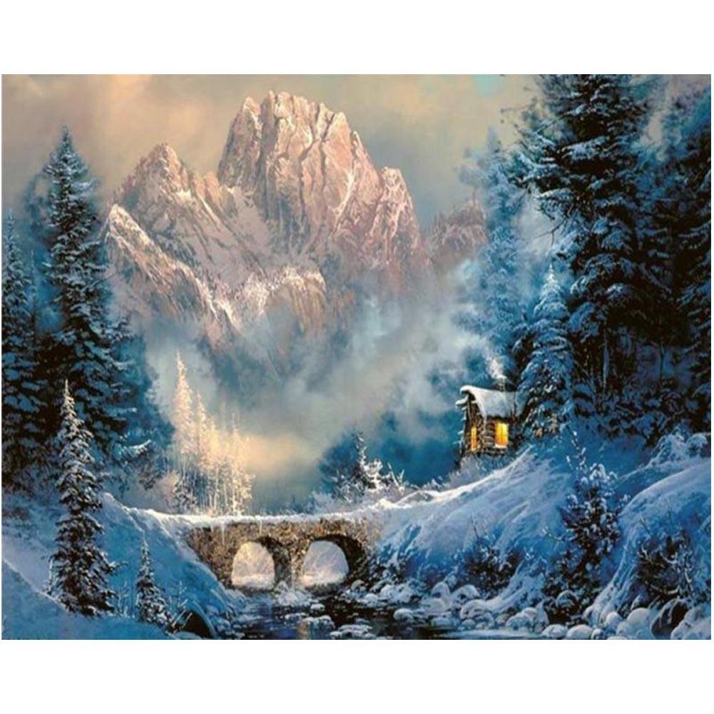 5D алмазной живописи Главная Дексаорации снег в горах фото