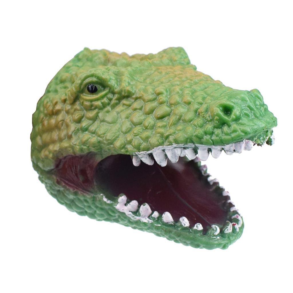 Kids Simulation Tyrannosaurus Dinosaur Model Rubber Hand Puppet Role-Play Toys