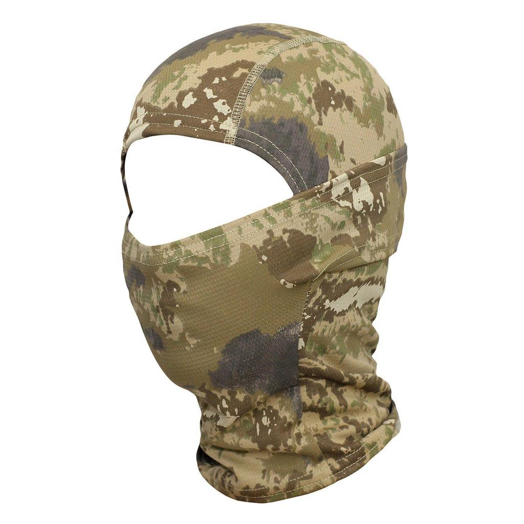 Camo Balaclava Tactical Face Mask Cover Windproof Outdoor Motorcycle Cycling