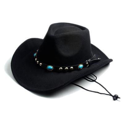 Cowboy Women Fashion Wool Felt Fedora Hat Western Men Cowgirl Cap Jazz hat  Sun Toca Sombrero 1b1527cd7eac