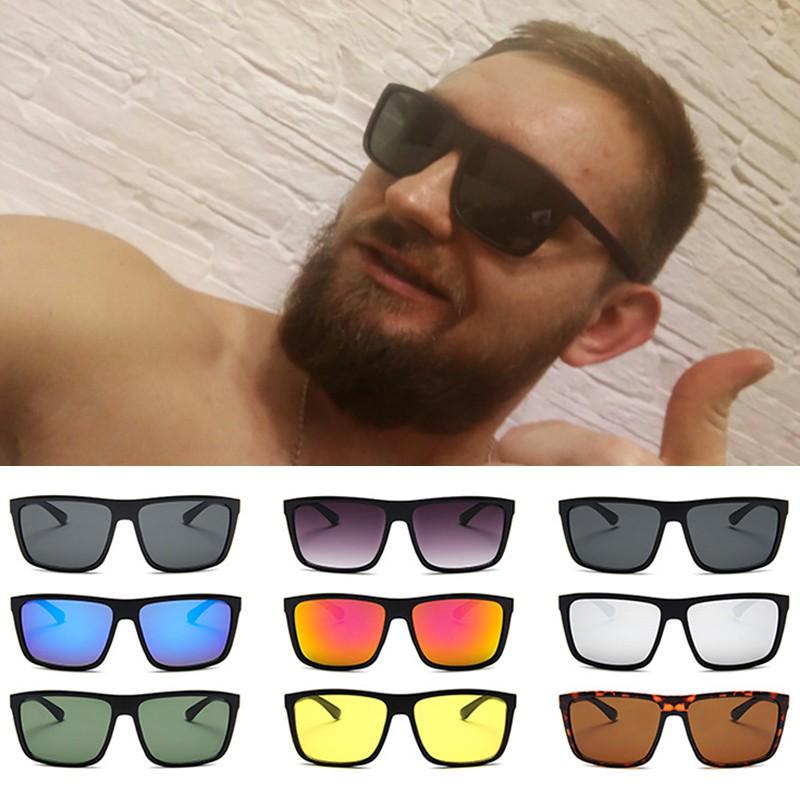 Классический Винтаж Солнцезащитные очки Тенденция Большой квадрат кадр очки anti-UV защита очки купить недорого — выгодные цены, бесплатная доставка, реальные отзывы с фото — Joom