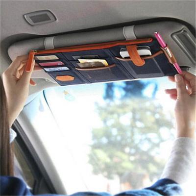 Car sun visor organizer multifunctional universal portable pocket
