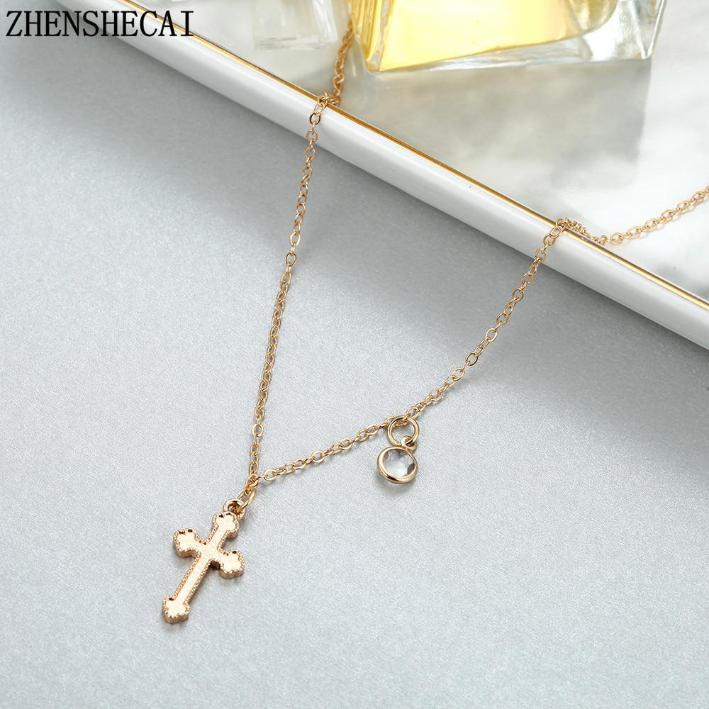 2020 Летняя золотая цепь Крест Ожерелье Малый Крест Мода Ювелирные изделия женщин ожерелье ювелирные изделия фото