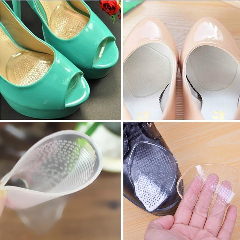 1Pair Of Forefoot Silicone Shoe Pad Insoles High Heel Elastic Cushion FootCareS!
