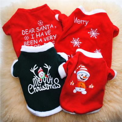Christmas Dog Clothes Cotton Pet Clothing For Small Medium Dogs Vest Shirt Puppy Dog Costume Chihuahua Pet Vest Shirt