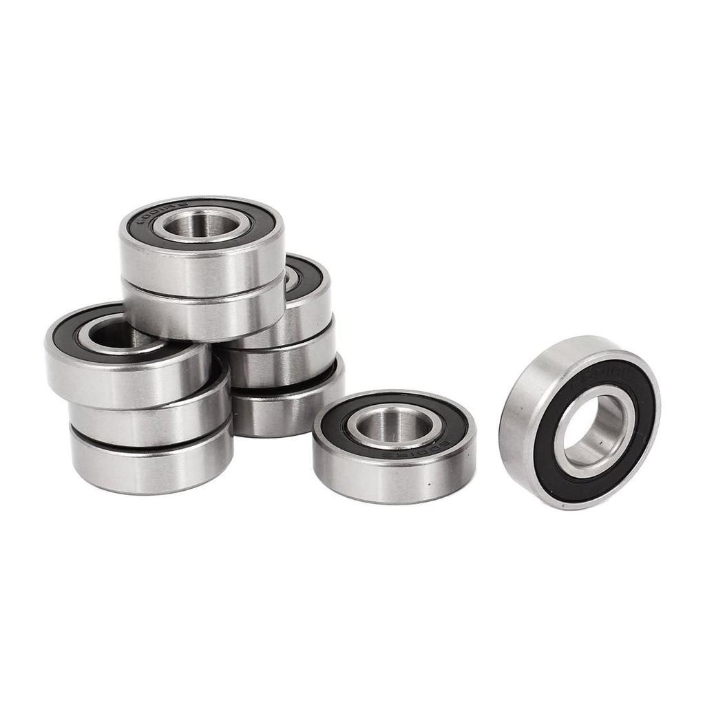 10x Silver Steel Sealed 6001ZZ Deep Groove Roller Ball Bearings 12 x 28 x 8mm