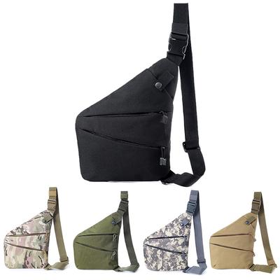 Men Women Canvas Crossbody Shoulder Chest Backpack Anti Theft Gun Holster Tactic