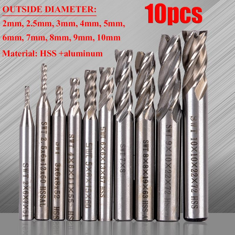 1 pcs 8.5mm x 8mm Four 4 Flute HSS /& Aluminum End Mill Cutter CNC Bit