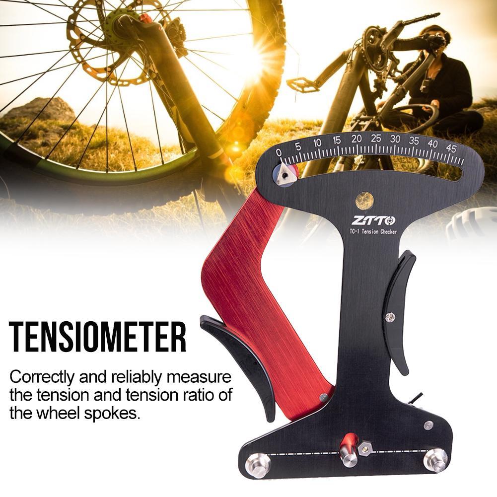 Bicycle Spokes Calibration Tool Wheel Spokes Tensiometer Gauge Bike Repair Tools