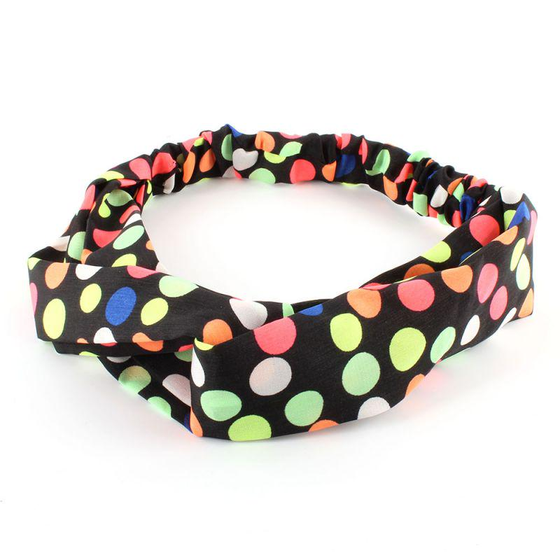 Women Girls Orange Yellow Puppy Dog Ear Bow Wire Party Hair Head Band Headband