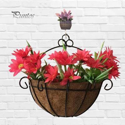 1*Semicircle Flower Basket Plant Pot Holder Wall Hanging Home//Garden Decoration