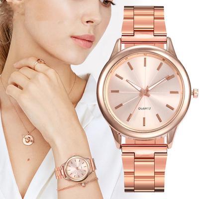 Design Women Watches Fashion Silver Round Dial Stainless Steel Band Quartz Wrist Watch Gifts Relogiosfeminino