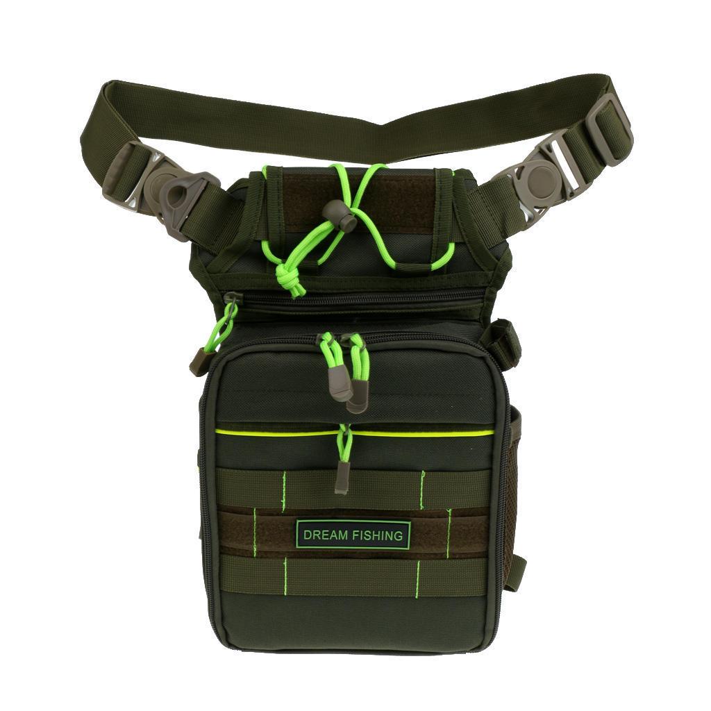 Jagd Fischen Tasche Reels Box Taille Pack Messenger Bag Tackle Paket Khaki