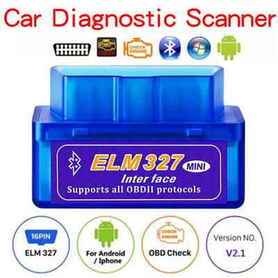 BUG-L Mini ELM327 v1.5 Bluetooth Crystal OBD2 Car Fault Detector