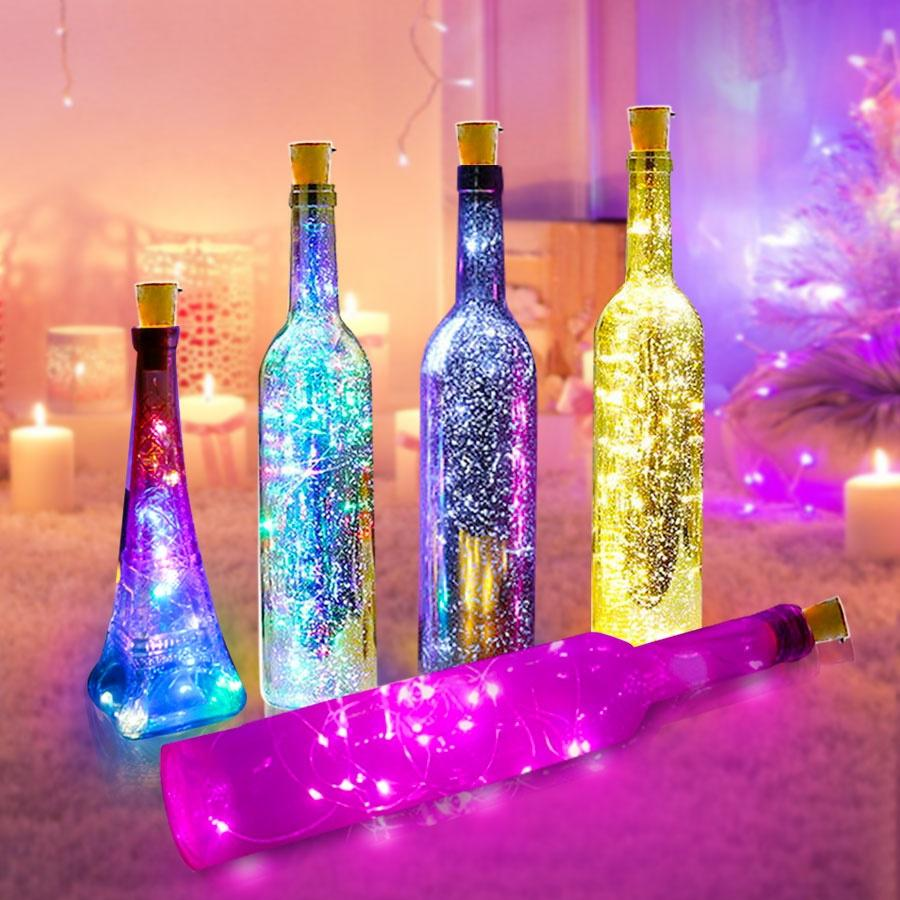 Details about  /1m 2m 3m Copper Wire Led String Lights Christmas Decorations For Garland Bottle