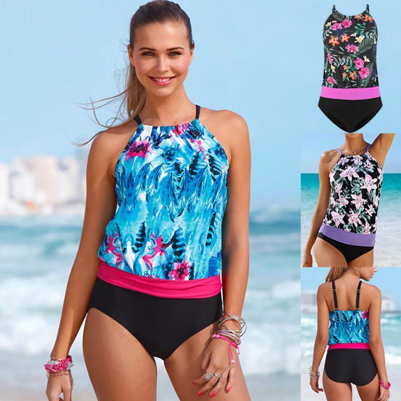 f730b5a9761 Womens Printed Two Pieces Bikini Ladies Sexy Strap Shoulder Swimsuit Swim  Beach Bathing Swimmwear-buy at a low prices on Joom e-commerce platform