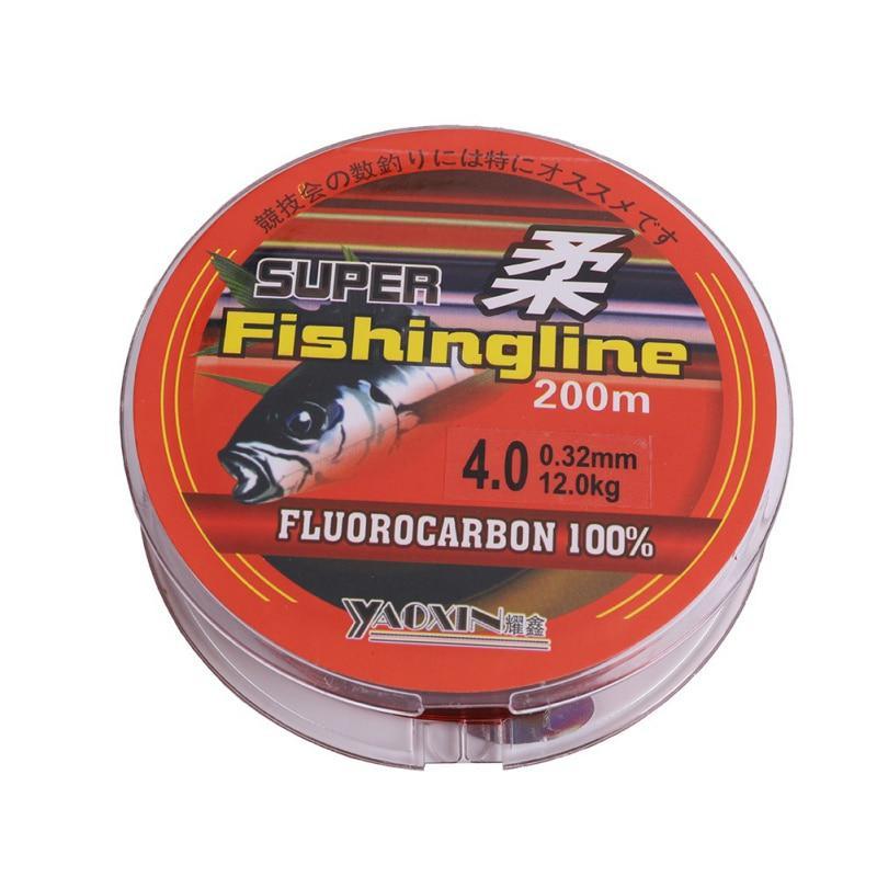 Transparent Fishing Line 100m Nylon Transparent Fluorocarbon Tackle Line A0A3