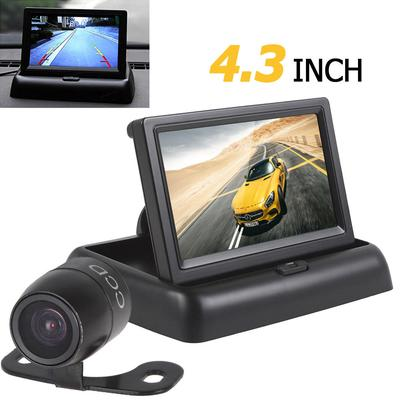 4.3 Inch 2-channel Input Car Rear View Monitor + Waterproof 420 TVL 18mm Lens