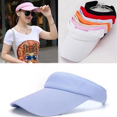 761fd67d320 Women s Adjustable Sunhat Plain Sports Mesh Visor Cap Tennis Golf Beach Hat