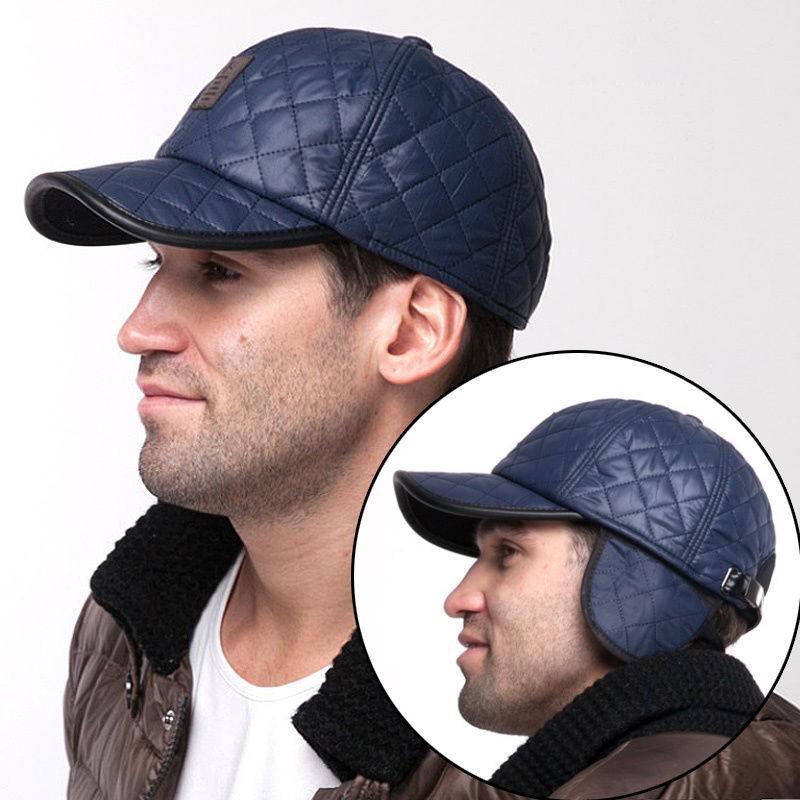 0f24ca339020c Winter Warm Men Baseball Cap Earflap Earmuffs Blank Sport Outdoor  Adjustable Hat-buy at a low prices on Joom e-commerce platform