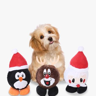 Christmas Santa Claus Pet Dog Chew Toys Puppy Chew Squeaker Squeaky Sound Plush Gingerbread Buy At A Low Prices On Joom E Commerce Platform